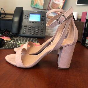 Madden Girl Blush Pink Two Piece Sandal